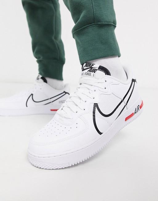 Nike – Air Force 1 React – Weiße Sneaker