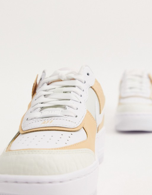 nike air force 1 beige e bianche