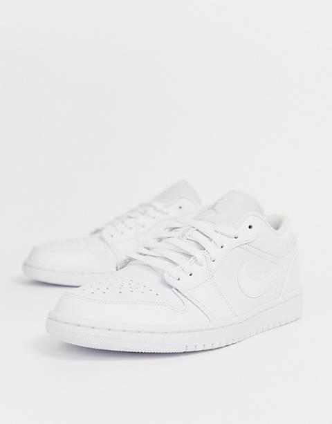 Nike – Air Jordan 1 – Niedrige Sneaker in Weiß