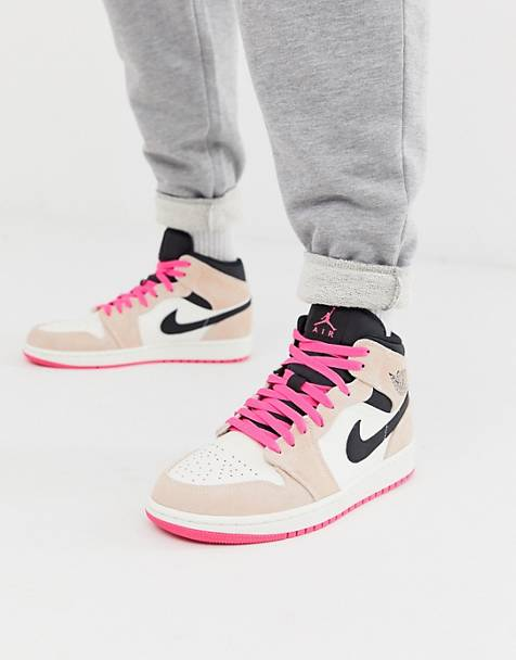 3ba4640c5a33 Nike Air Jordan mid trainers in pink