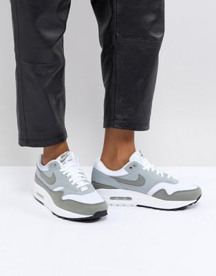 Nike Air Max 1 Premium Sneakers In Cream And Khaki