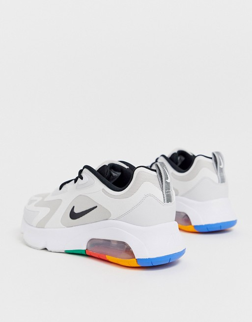 air max 200 homme blanc or