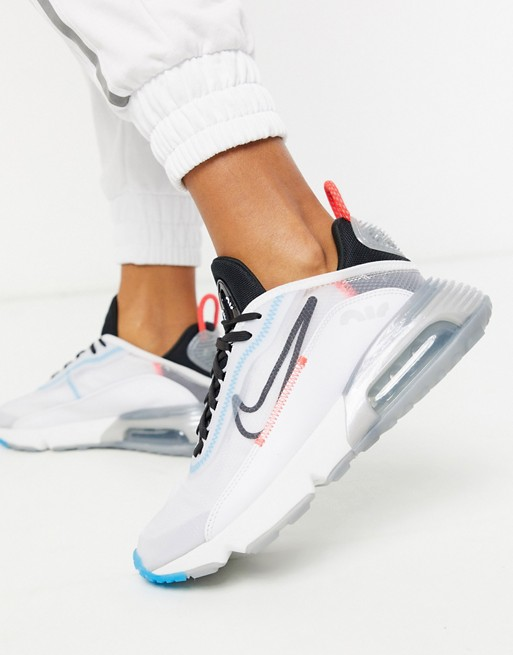 Nike Air Max 2090 Trainers in white and blue