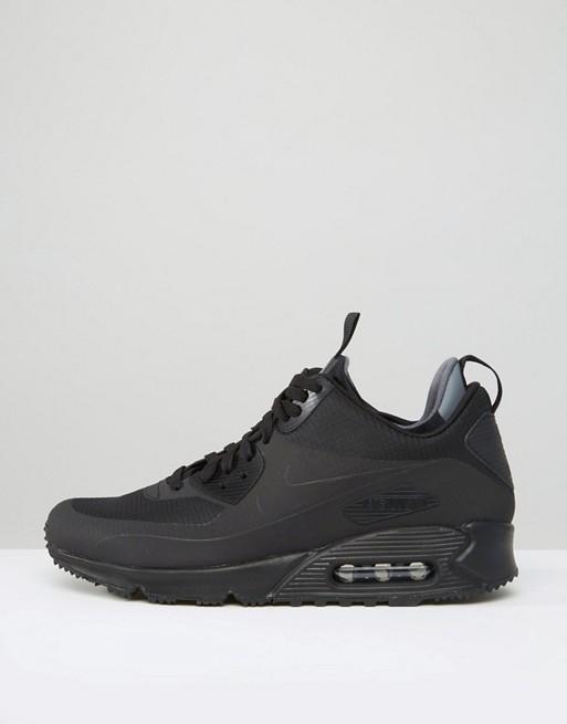Nike Air Max 90 Winterized 806808 002 Scarpe da ginnastica alte nere