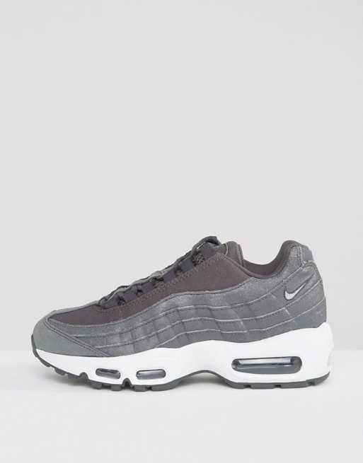new style edd54 29a14 Nike Air Max 95 Premium Trainers In Black   ASOS