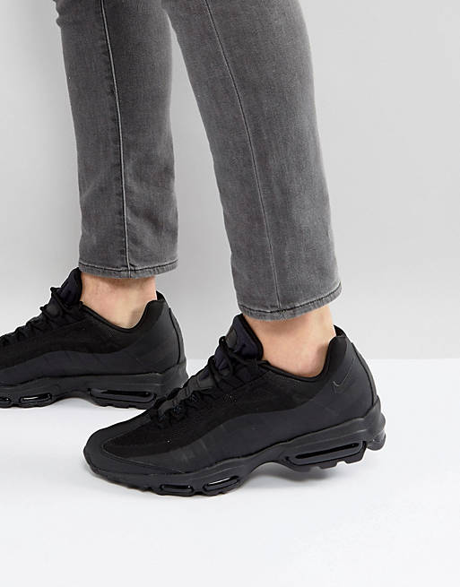Nike Air Max 95 Ultra Essential Trainers In Black 857910-012