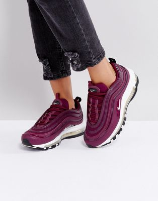 Nike Air Max 97 Premium Trainers In Bordeaux