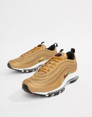 Nike Air Max 97 Trainers In Gold 884421-700