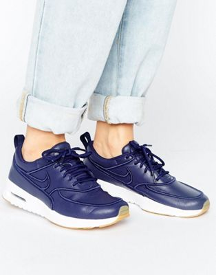 Image 1 of Nike Air Max Thea Ultra Premium Trainers In Navy