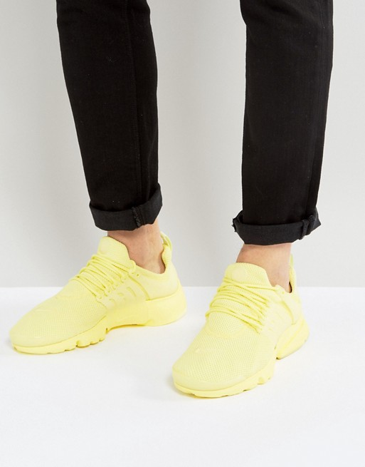 new style b373e c3a5f Image 1 of Nike Air Presto Ultra Breathe Sneakers In Yellow 898020-700