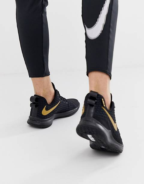 Nike Basketball LeBron Witness Sneakers In Black
