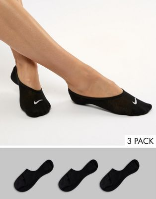 Nike Black 3 Pack Liner Socks