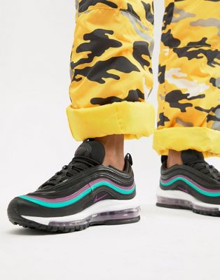 Nike Black With Purple Piping Air Max 97 Sneakers