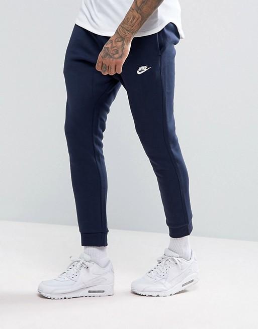 Jogginghose 804408 451 navy Marineblaue Nike Club mit Bündchen FR6ExT