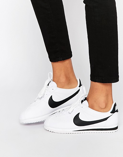 huge selection of 839e0 d1736 Nike Cortez sneakers in white and black