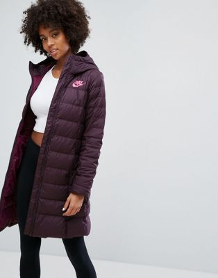 Nike Down Filled Long Padded Parka Jacket