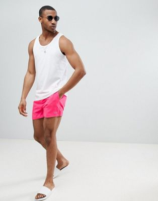 Nike Exclusive Volley Super Short Swim Short In Pink NESS8509-678