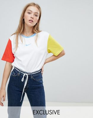 Nike - Exclusivité ASOS - Lot de t-shirts color block ajustés coupe masculine avec logo virgule