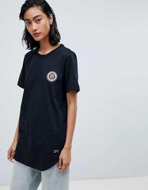 Image 1 of Nike F.C. Flag Crest T-Shirt With Back Print In Black