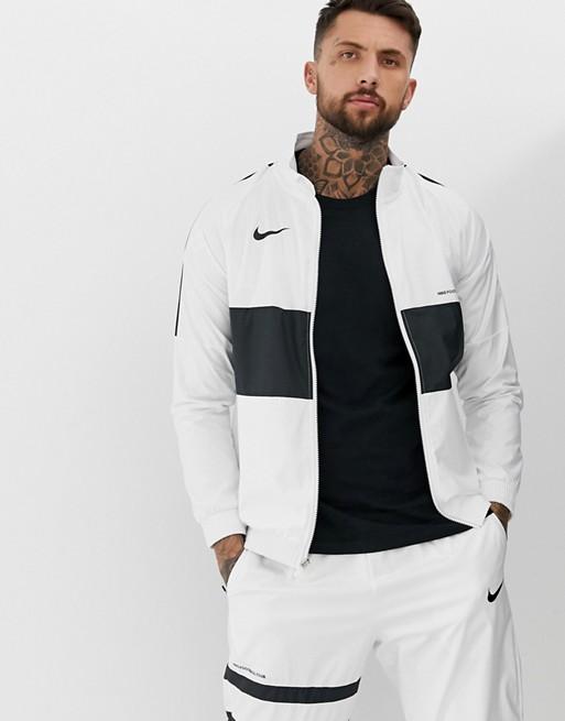 Nike FC Track Jacket In White