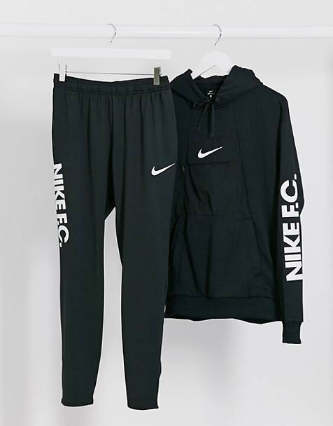 Nike Football FC logo joggers in black