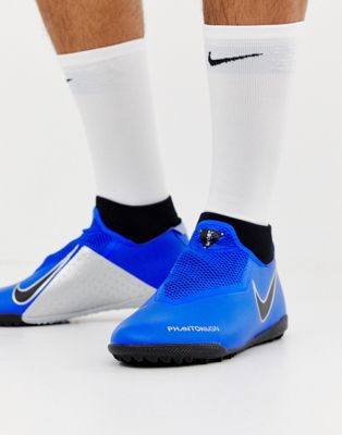 Image 1 of Nike Football Phantom Academy Astro Turf Trainers In Blue AO3269-400