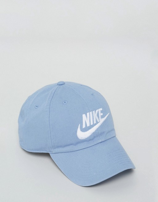 watch cfbb3 549cb Nike Futura Washed H86 Cap In Blue 626305-436   ASOS