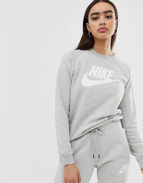 Nike gray rally logo sweatshirt