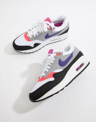 Nike Grey And Black Air Max 1 Sneakers