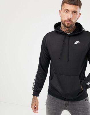 Afbeelding 1 van Nike - Hoodie zonder sluiting met bies in zwart AR4914-010