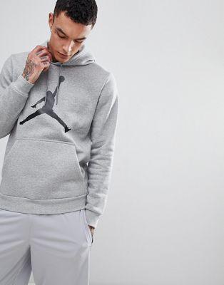 Nike Jordan Flight Fleece Pullover Hoodie In Grey AH4507-063