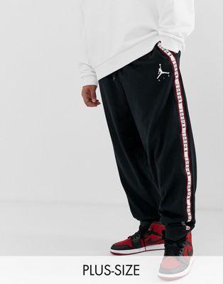 Nike Jordan – Plus Jumpan – Schwarze Jogginghose mit Taping, AR2250-010