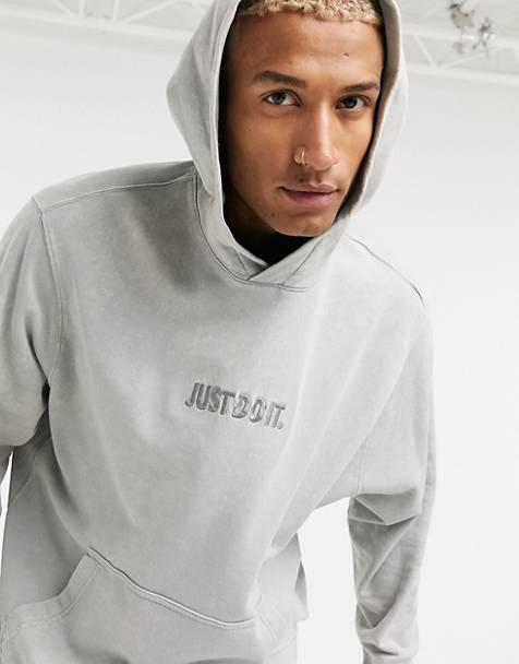 나이키 후드티 Nike Just Do It washed hoodie in grey,Grey