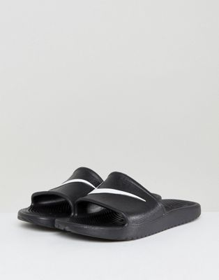 Nike Kawa Sliders In Black 832528-001