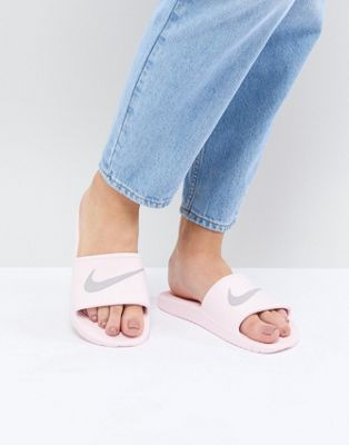Nike Kawa Sliders In Pink