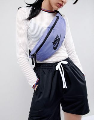 Nike Logo Bumbag In Purple
