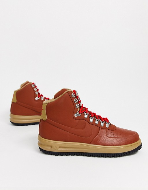 nike air force 1 duckboot gym red