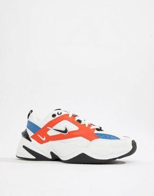 Nike - M2K Tekno - Baskets - Blanc, rouge et bleu
