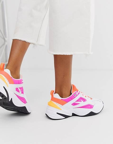 ff33cac7884b18 Nike – M2K Tekno – Sneaker in Weiß und Rosa