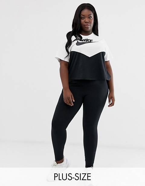 Nike Plus Black High Waisted Logo Leggings