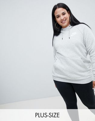 Nike Plus Rally Grey Swoosh Logo Hoody