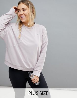 Nike Plus Running Therma Sphere Sweat In Rose