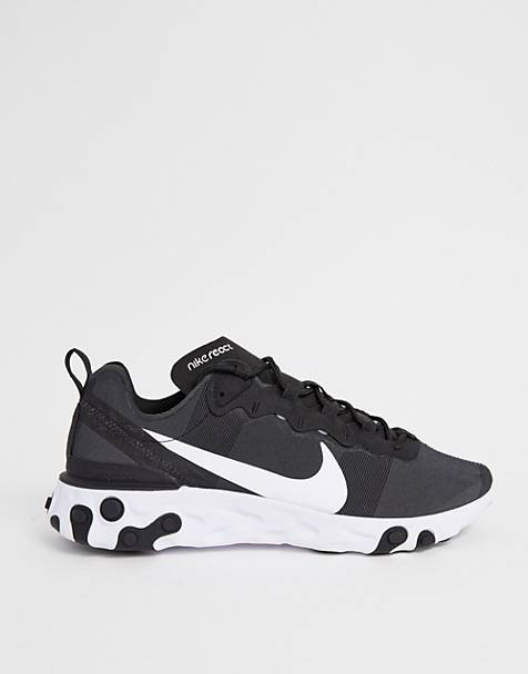 08e55f5e8f8 Nike - React Element 55 - Baskets - Noir et blanc