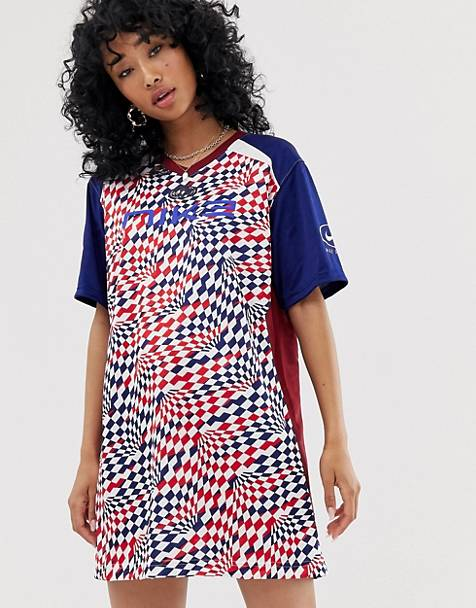 37fc452722b Nike red white and blue soccer jersey dress