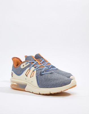 Nike Running - Air Max sequent 3 - Sneakers premium crema ar0253-400