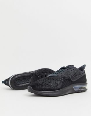 Image 1 of Nike Running Air Max sequent 4 sneakers in black ao4485-002