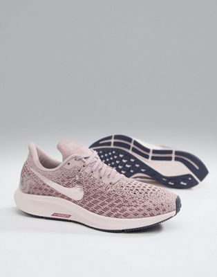 Nike Running Air Zoom Pegasus 35 Trainers Rose With Metallic Swoosh
