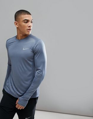Nike Running Dri-FIT Long Sleeve Top In Blue 833593-497