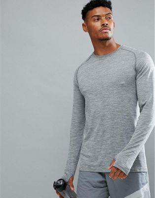 Nike Running Dri-FIT Long Sleeve Top In Grey 833565-066