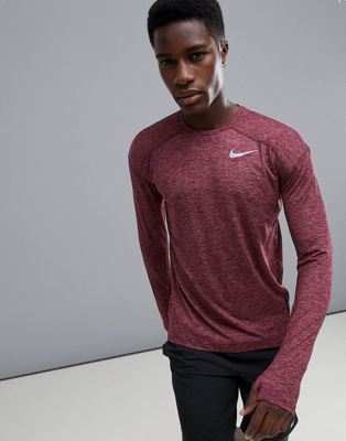 Nike Running Dry Element Crew Neck Sweat In Purple 910034-652